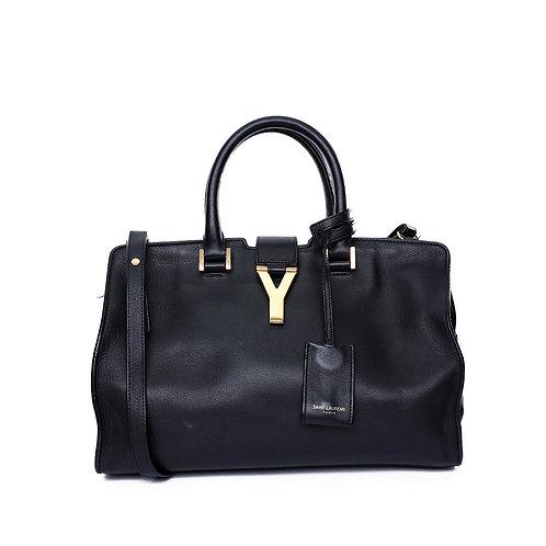 SAINT LAURENT Small Monogram Cabas Bag in Black