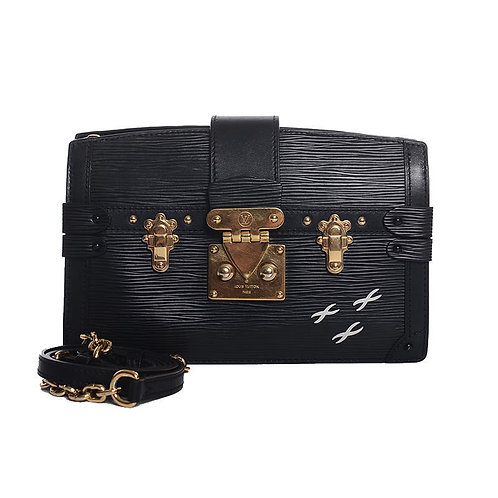 LOUIS VUITTON Trunk Clutch Noir Epi