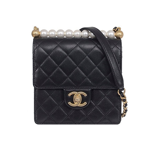 CHANEL Flap Bag with Pearls