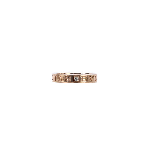 BVLGARI 18KT Rose Rold Ring with a Diamond