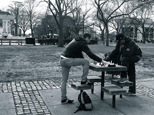 Playing chess in Dupont Circle