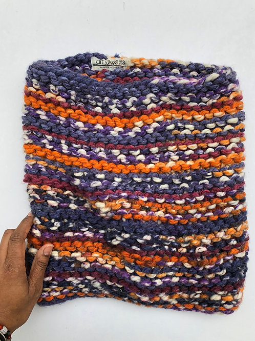 Multi-Color Knit Infinity Scarf