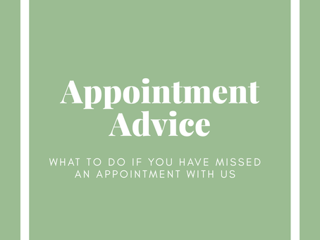 APPOINTMENT ADVICE - UPDATED FEB 22ND 2021
