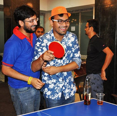 Ping pong is always a huge hit at our co