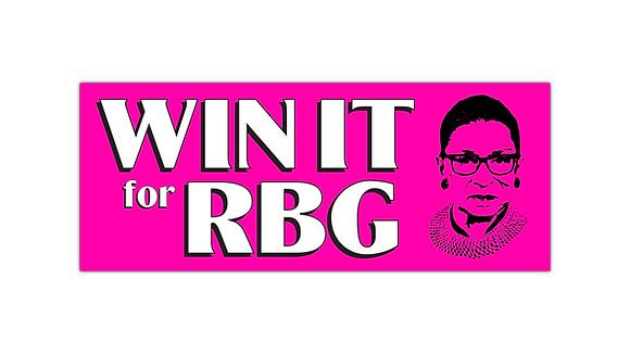 #WinItForRBG Logo Bumper Sticker