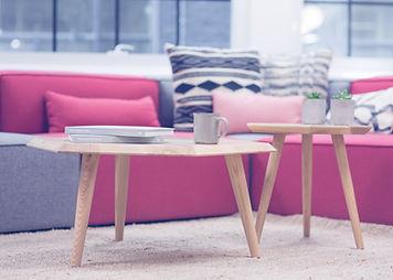 Tables rondes en bois