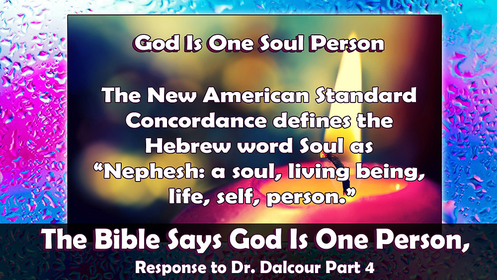 The Bible Says God Is One Person