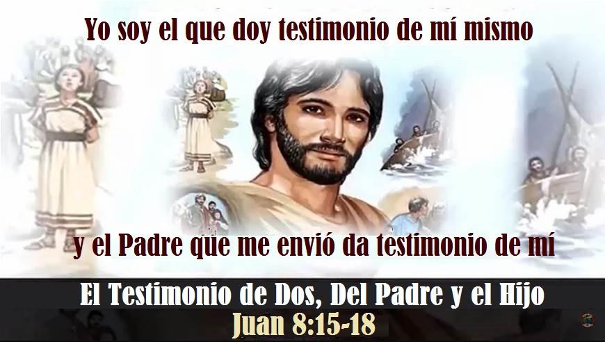 El Testimonio de Dos, Del Padre y el Hijo , Juan 8:15-18