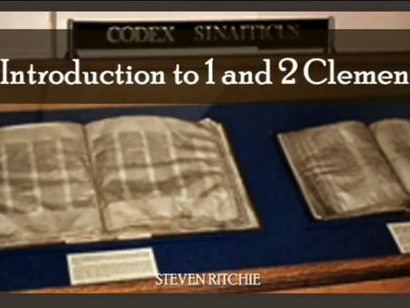 Introduction to the Epistles of 1 And 2 Clement