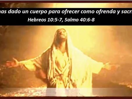 Me Preparaste Cuerpo – Hebreos 10:5-7, Salmo 40:6-8