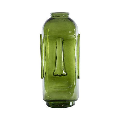 אגרטל פרצוף ענק ירוק שקוף