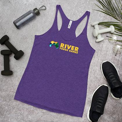 Women's Racerback Tank - Dark Colors - River Forge Games Logo