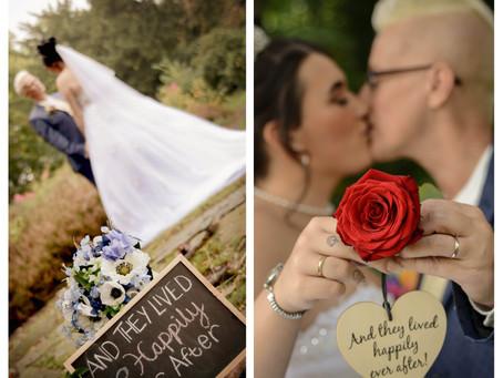 Sarah and Karly's fairy tale wedding