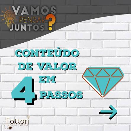 CONTEÚDO DE VALOR EM 4 PASSOS
