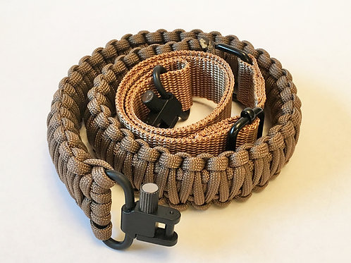 Paracord Gun Sling - Coyote Brown