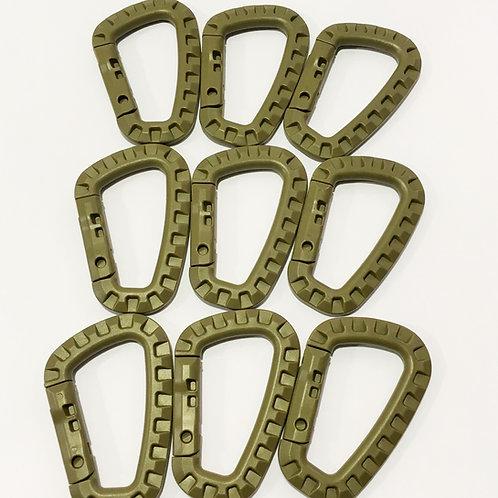 Tac Link Polymer Carabiner (9 Pack) - FDE