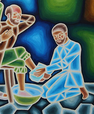 Christ Washes the Feet of Peter