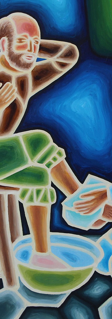 Christ Washes the Feet of Jesus