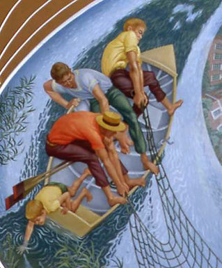 Ceiling Painting for St Bede's at Newport Pagnell