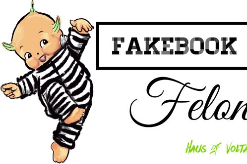 Fakebook Felon 4.5x3  vinyl sticker