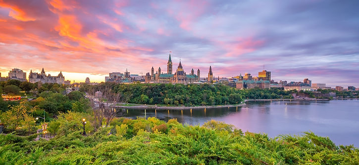 Parliament Hill in Ottawa, Ontario, Cana