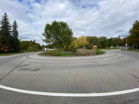 Mystery Rail Tracks at Roundabout?