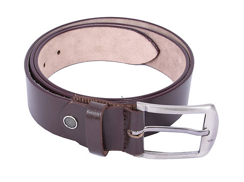 IRNADO Pinhole Leather Brown Belt