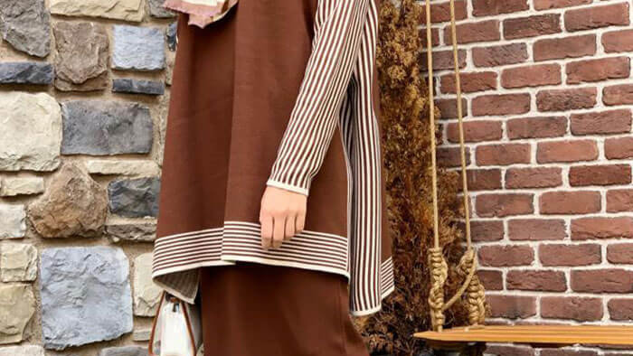 Stripes Skirt and Top Set