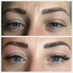 Healed Brows before&after tint&shape
