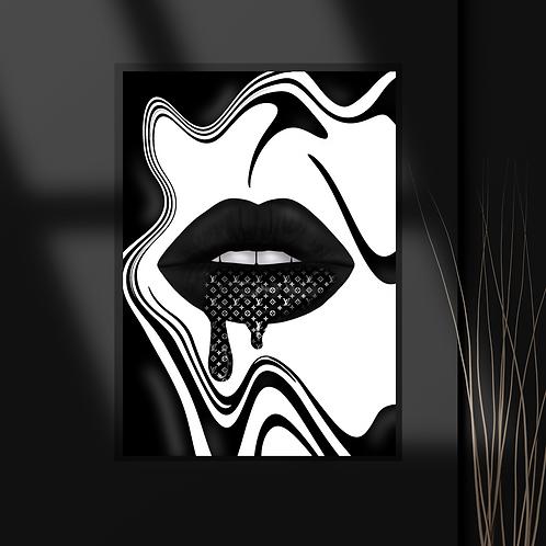 The Lip Drip Print