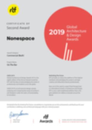 GADA 2019 -2 Second Award - On The Bar b