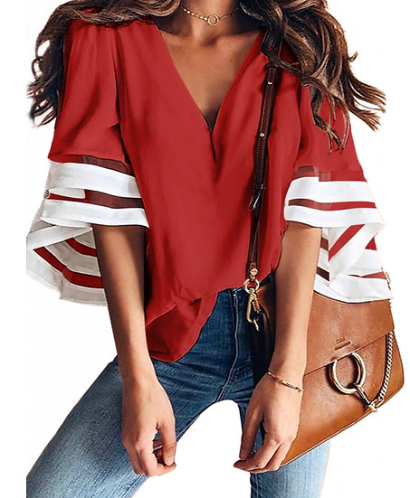 Blouse Flare Sleeves