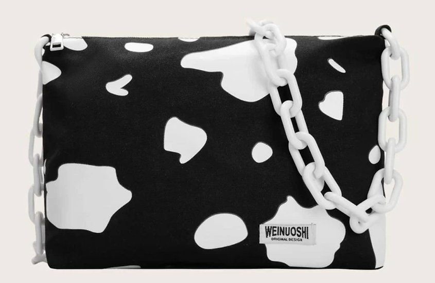 Cow Print Shoulder Bag