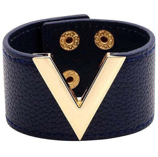V Leather Bracelet