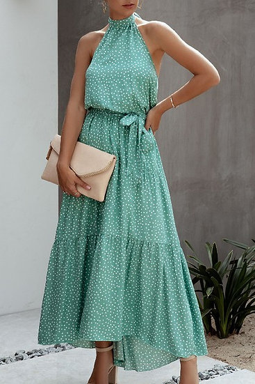 Polka-dot Long Dress