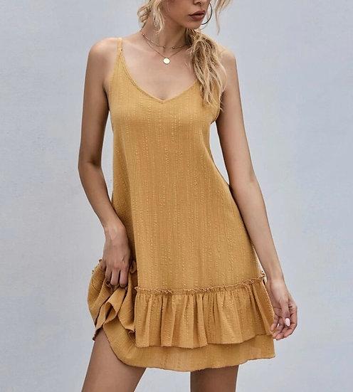 Layered Ruffle Frill Cami Dress