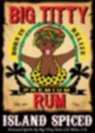 Big Titty Rum Island Spiced, Belize Rum