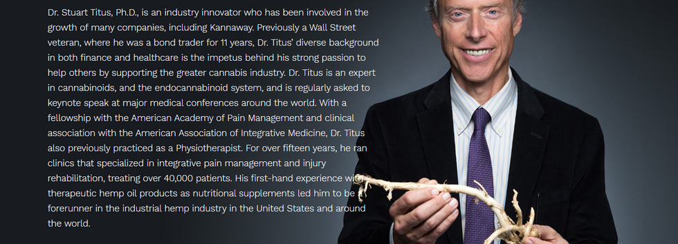 Dr Stuat Titus - CEO