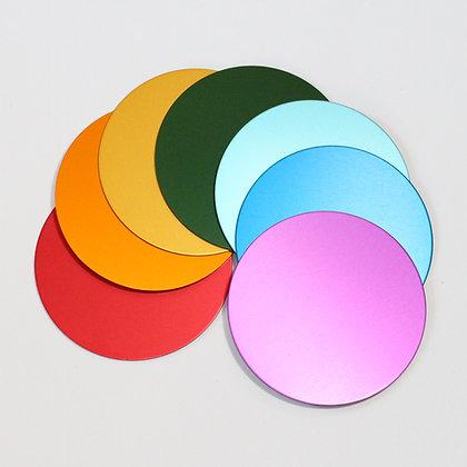 Tesla Plate Coasters / Chakra Discs (Set of 7) - save 10%