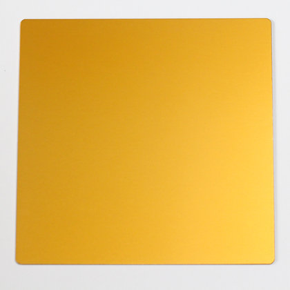 Large Golden Yellow Tesla Plate