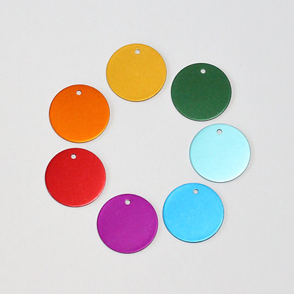 Small Tesla Disc Pendant (Choose a colour)