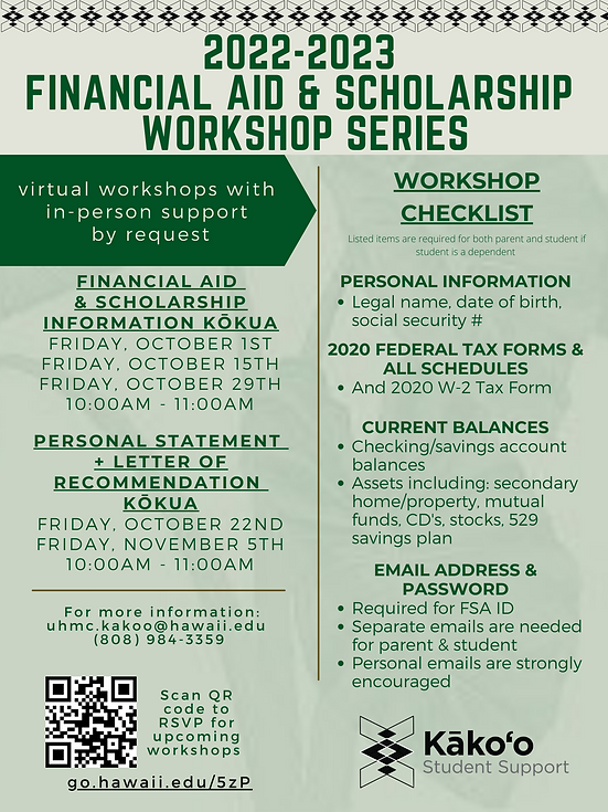 2022-2023 financial aid and scholarship workshop series - FLYER.png