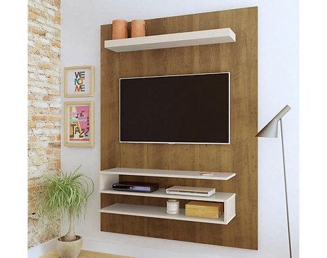 """Mueble para TV tipo Panel Orion Bertolini Pantalla Hasta 42"""" - Pino con Blanco"""