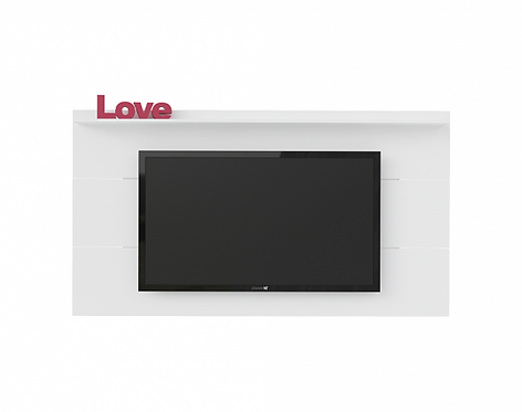 Mueble para TV tipo Panel Slim Pantalla Hasta 55 Bertolini Blanco 3236