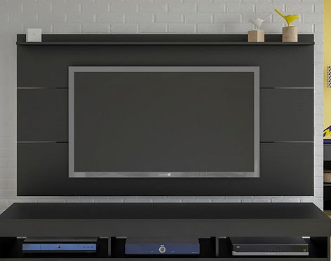 Mueble para TV tipo Panel Slim Pantalla Hasta 55 Bertolini Negro 3813