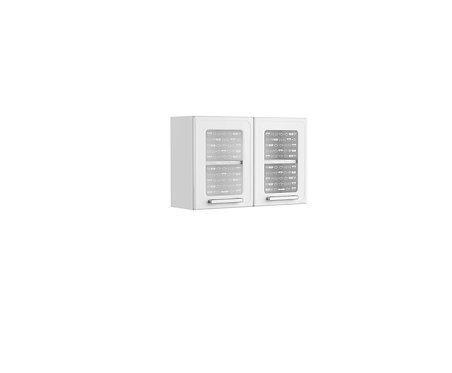 Alacena Superior puerta de vidrio 80 Cm Gourmet Blanco 7006650