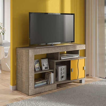 Mesa para TV Senna Bertolini Canela con Amarillo 3589