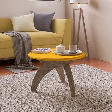 Mesa de Centro Jade Bertolini Amarillo con Canela 3675
