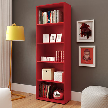 Biblioteca Multy  Bertolini - Rojo 2924