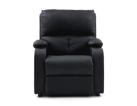 Silla Reclinable Rest Relax Home Negro Cuero Sintético